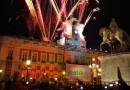 Unique Tradition During New Years Eve 2015 in Madrid Spain