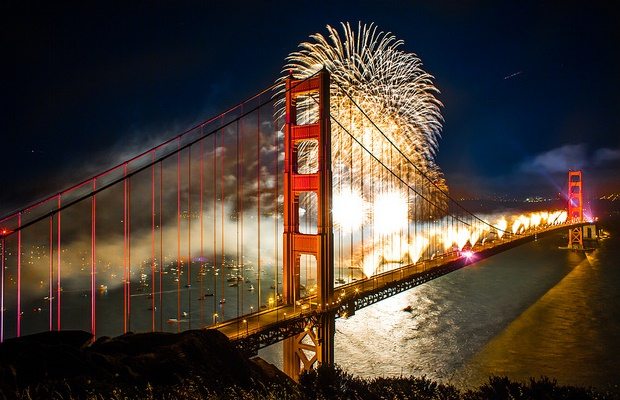 San Francisco Fireworks New Years Eve