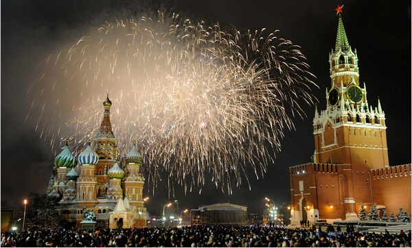 Moscow New Year's Eve 2015