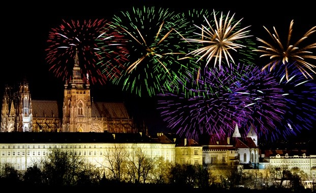 NYE Fireworks in Prague