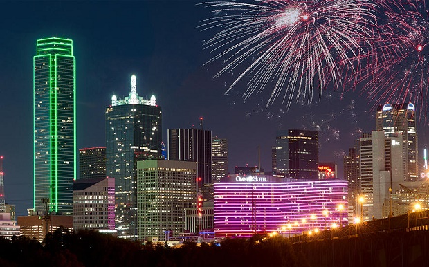 NYE Fireworks in Dallas