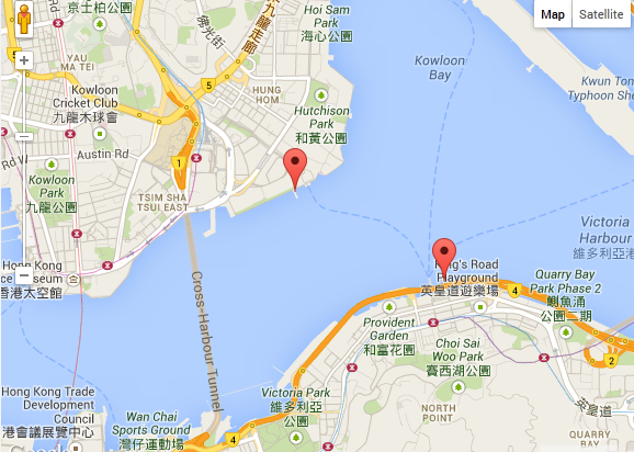 Hong Kong Cruise Piers Map