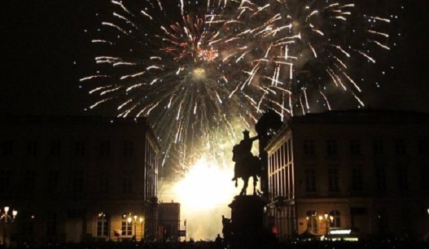 New Years Eve in Brussels, Belgium