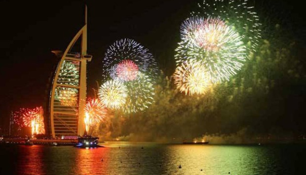 Dubai World Record of Largest Fireworks