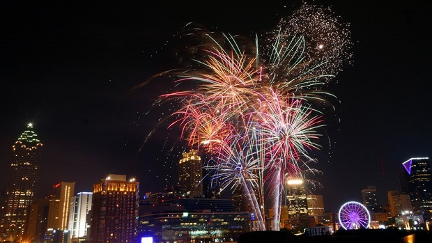 NYE Fireworks in Atlanta