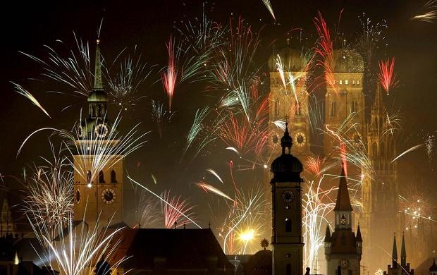 NYE Fireworks in Munich
