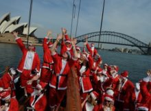 Santa Festival on Christmas in Australia