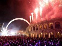 NYE Fireworks in Verona , Italy