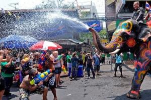 Songkran in Bangkok Thailand
