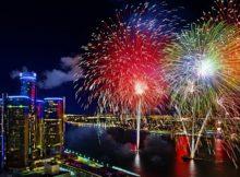Midnight Fireworks on NYE in Detroit