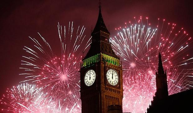 NYE fireworks in London