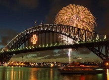 NYE Fireworks in Sydney Harbor