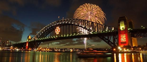 NYE Fireworks in Sydney Harbor