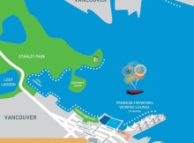 Vancouver NYE Fireworks Map