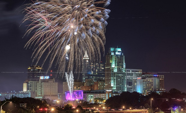 NYE Fireworks in Raleigh
