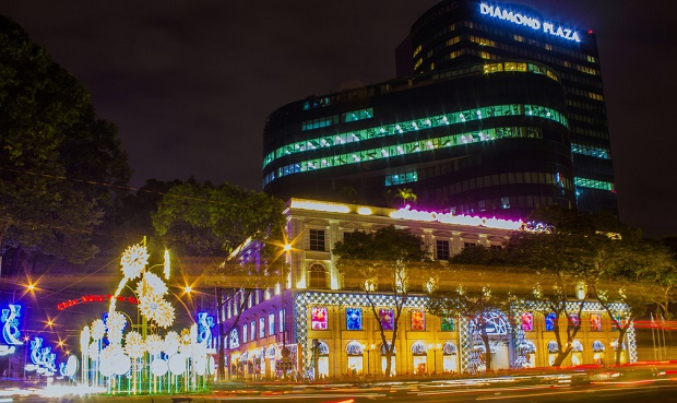 Diamon Plaza in HCMC on NYE