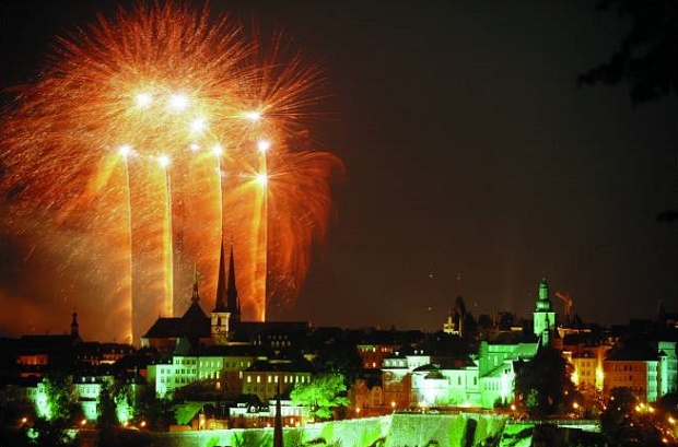 NYE Fireworks in Luxembourg