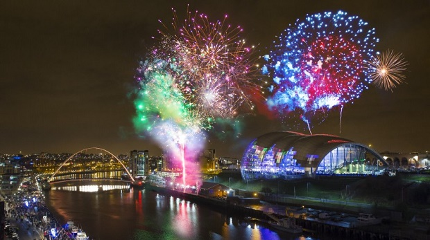 New Years Eve in Newcastle, UK