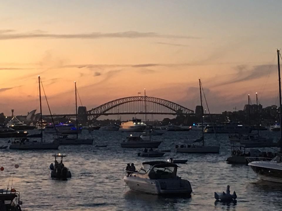 Sunset on Sydney Harbour Bridge