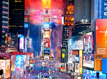 Ball Drop and NYE Fireworks in NYC