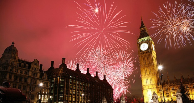 NYE Fireworks in London at Big Ben
