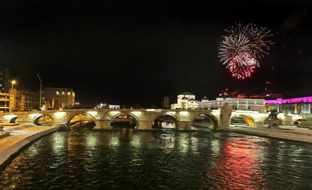 NYE FIreworks on Skopje