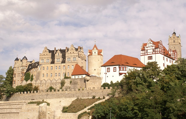 Old Castle of Bernburg in Germany