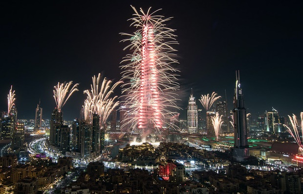 NYE Fireworks and Countdown in Dubai UAE