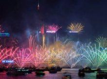 NYE Fireworks in Hong Kong 2017