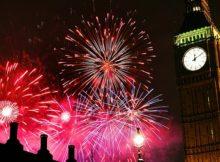 NYE Fireworks in London 2017