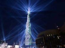 Dubai NYE Laser show